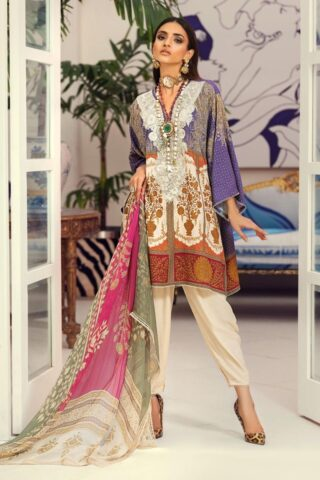 Muzlin by Sana Safinaz Linen Unstitched 3 Piece Suit MWSS20 08A -  Winter Collection
