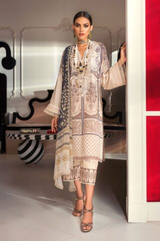 Muzlin by Sana Safinaz Linen Unstitched 3 Piece Suit MWSS20 08B -  Winter Collection