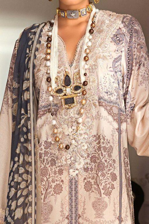 Muzlin by Sana Safinaz Linen Unstitched 2 Piece Suit MWSS20 08B – Winter Collection