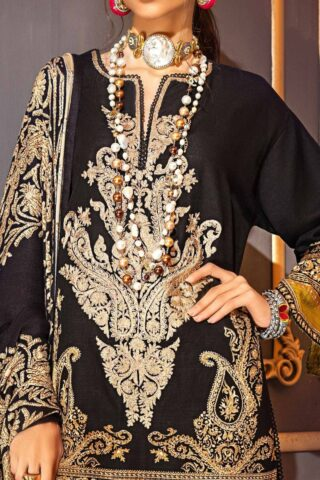 Muzlin by Sana Safinaz Wool Unstitched 3 Piece Suit MWSS20 12A - Winter Collection
