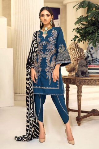 Muzlin by Sana Safinaz Wool Unstitched 3 Piece Suit MWSS20 14A - Winter Collection