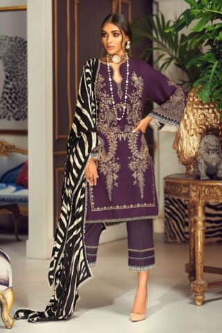 Muzlin by Sana Safinaz Wool Unstitched 3 Piece Suit MWSS20 14B - Winter Collection
