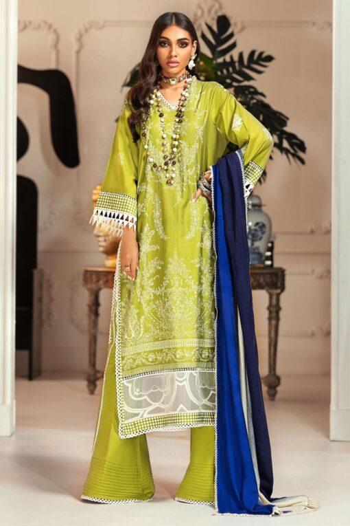 Muzlin by Sana Safinaz Cotton Satin Unstitched 2 Piece Suit MWSS20 18B –Winter Collection