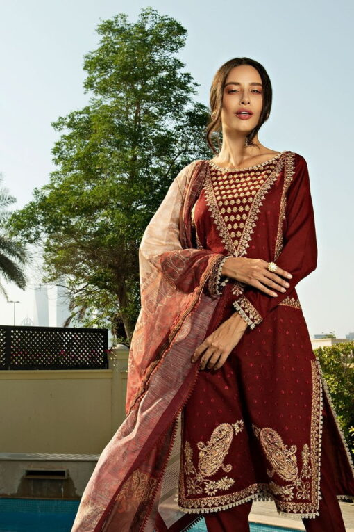 Sobia Nazir Khaddar Unstitched 3 Piece Suit SNWC20 04A – Winter Collection
