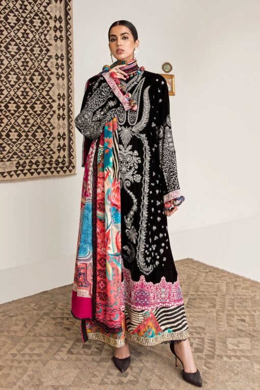Elan Embroidered Velvet Unstitched 3 Piece Suit 2020 02 Rhea – Winter Collection