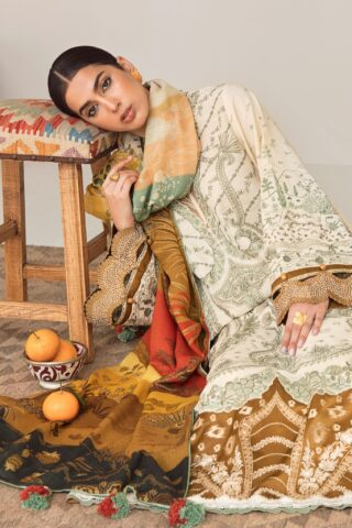 Elan Embroidered Khaddar Unstitched 3 Piece Suit 2020 07 Meliae - Winter Collection