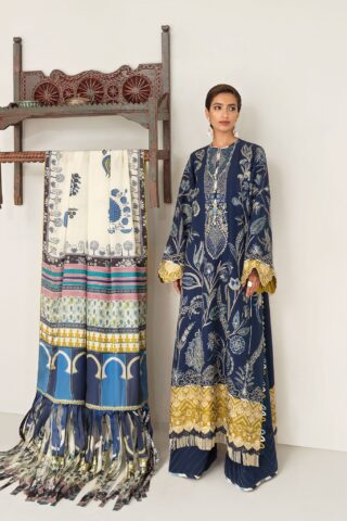 Elan Embroidered Khaddar Unstitched 3 Piece Suit 2020 09 Cleone - Winter Collection