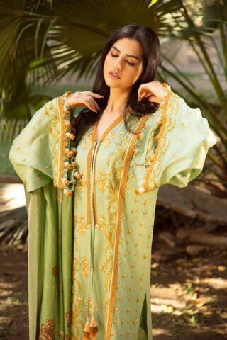 Sobia Nazir Embroidered Cottel Linen Unstitched 3 Piece Suit 2020 04B - Winter Collection