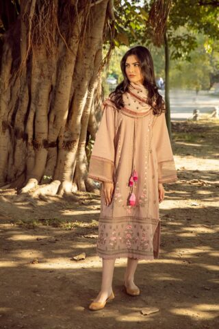 Sobia Nazir Embroidered Khaddar Unstitched 3 Piece Suit 2020 07B - Winter Collection
