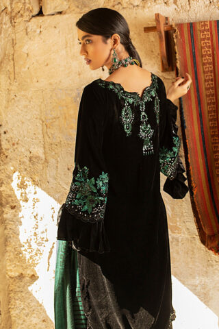 Mushq Winter Sky Embroidered Velvet Unstitched 3 Piece Suit 2020 09 Jasper - Winter Collection