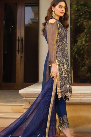 Al Zohaib Embroidered Raw Silk Unstitched 3 Piece Suit 2021 D 06 – Wedding Collection