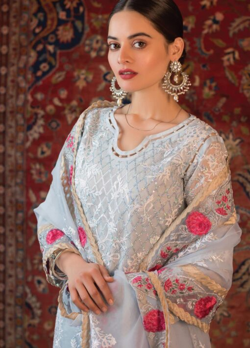 Al Zohaib Embroidered Organza Unstitched 3 Piece Suit 2021 D 11 – Wedding Collection