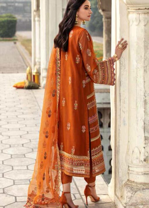 Dastan-e-Jashan By Charizma Embroidered Chiffon Unstitched 3 Piece Suit D 01 Noor-e-Qamar – Luxury Collection