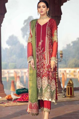 Dastan-e-Jashan By Charizma Embroidered Chiffon Unstitched 3 Piece Suit D 02 Raqs-e-Ashna – Luxury Collection
