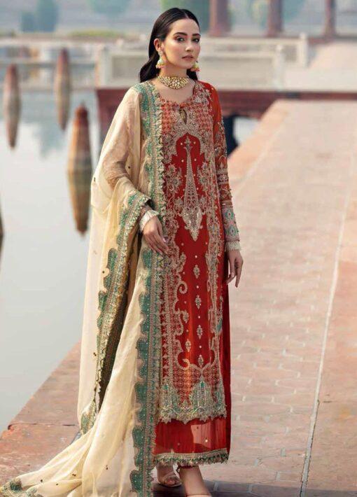 Dastan-e-Jashan By Charizma Embroidered Chiffon Unstitched 3 Piece Suit D 06 Nur-un-Nisa – Luxury Collection