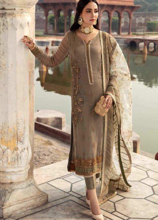 Dastan-e-Jashan By Charizma Embroidered Chiffon Unstitched 3 Piece Suit D 07 Zeb-un-Nisa – Luxury Collection