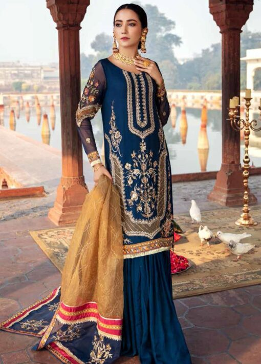Dastan-e-Jashan By Charizma Embroidered Chiffon Unstitched 3 Piece Suit D 08 Khas Mahal – Luxury Collection