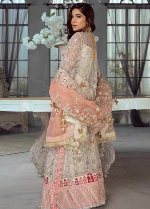 Maryam Hussain Embroidered Net Unstitched 3 Piece Suit D 02 JASMINE – Wedding Collection