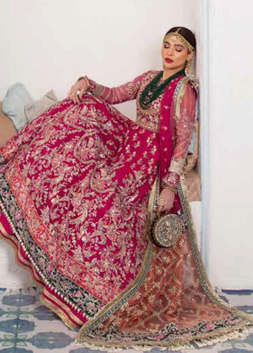 Maryam Hussain Embroidered Net Unstitched 3 Piece Suit D 04 NARGIS – Wedding Collection