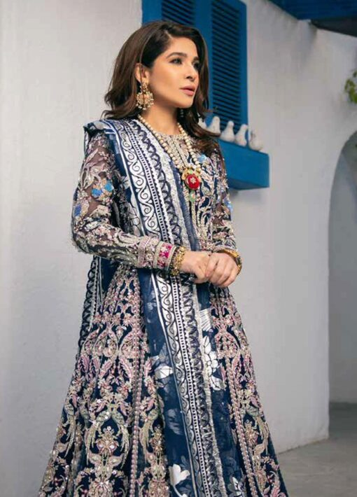 Maryam Hussain Embroidered Net Unstitched 3 Piece Suit D 05 FALAK – Wedding Collection