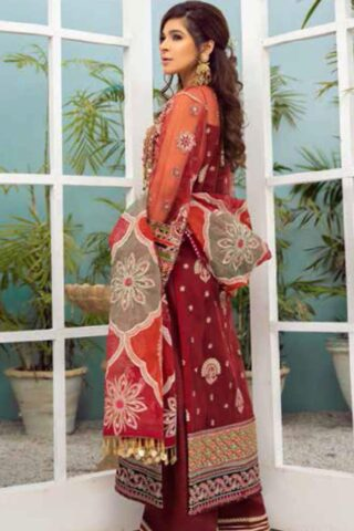 Maryam Hussain Embroidered Organza Unstitched 3 Piece Suit D 06 GOTTA KINARI – Wedding Collection