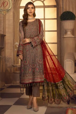 Noor-e-Rang By Zarif Embroidered Chiffon Unstitched 3 Piece Suit 10 Rang Reza – Luxury Collection