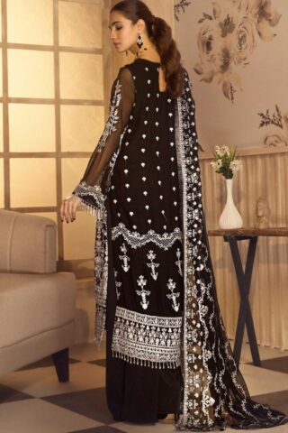 Noor-e-Rang By Zarif Embroidered Chiffon Unstitched 3 Piece Suit 11 Riwaj – Luxury Collection