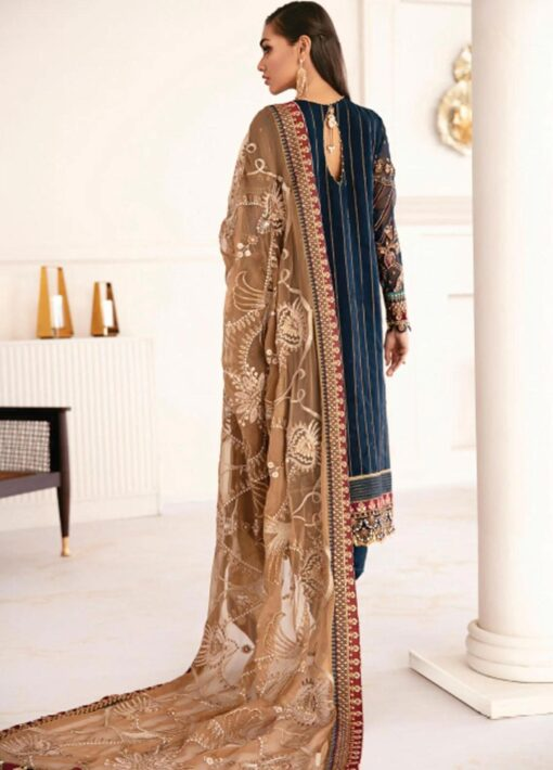 Chantelle By Baroque Embroidered Chiffon Unstitched 3 Piece Suit 02 Precious – Wedding Collection