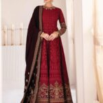 Chantelle By Baroque Embroidered Chiffon Unstitched 3 Piece Suit 04 Soft Heart - Wedding Collection