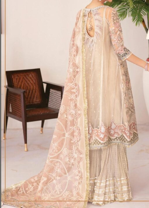 Chantelle By Baroque Embroidered Net Unstitched 3 Piece Suit 06 Fall Light – Wedding Collection