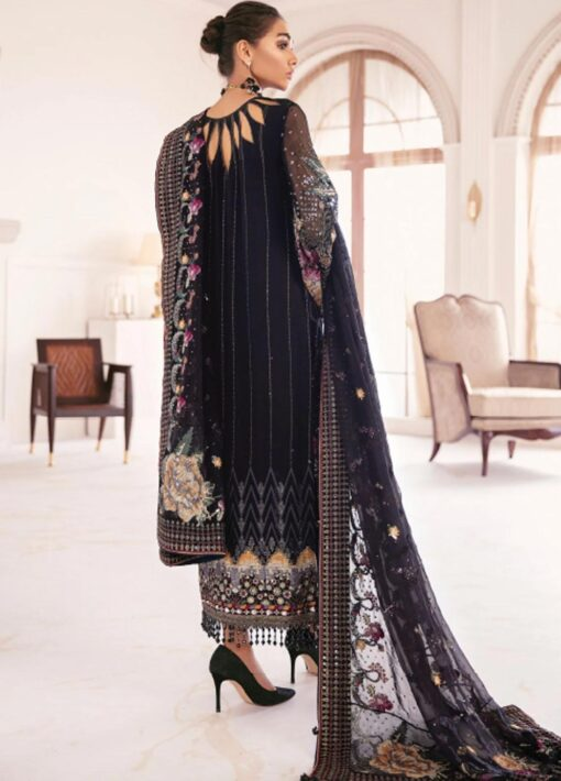 Chantelle By Baroque Embroidered Chiffon Unstitched 3 Piece Suit 09 Garnet – Wedding Collection