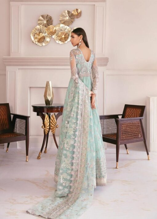 Chantelle By Baroque Embroidered Net Unstitched 3 Piece Suit 10 Swiss Topaz – Wedding Collection