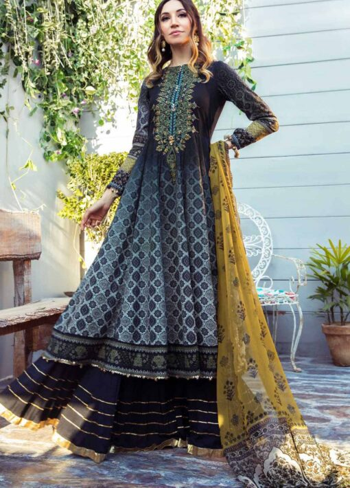 Mprints by Maria B Printed Lawn Unstitched 3 Piece Suit 01 B – Summer Collection