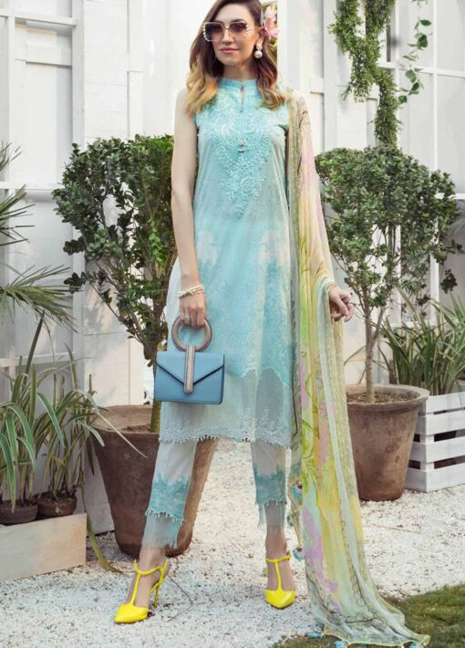 Mprints by Maria B Printed Lawn Unstitched 3 Piece Suit 02 A – Summer Collection
