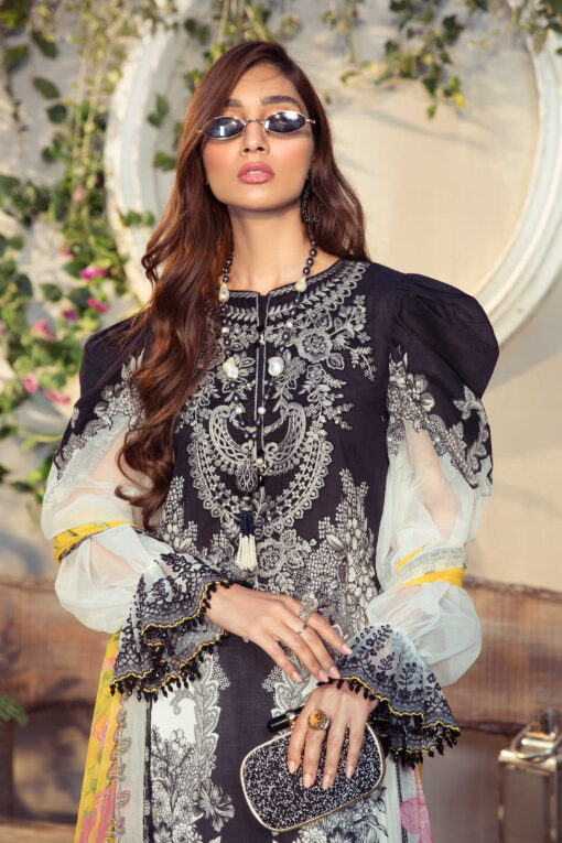 Mprints by Maria B Printed Lawn Unstitched 3 Piece Suit 02 B – Summer Collection