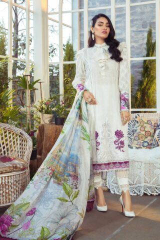 Mprints by Maria B Printed Lawn Unstitched 3 Piece Suit 03 A – Summer Collection