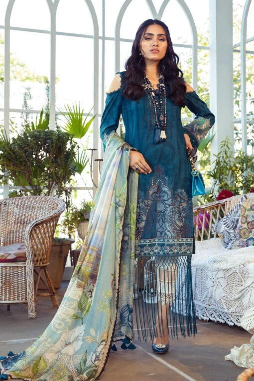 Mprints by Maria B Printed Lawn Unstitched 3 Piece Suit 03 B – Summer Collection