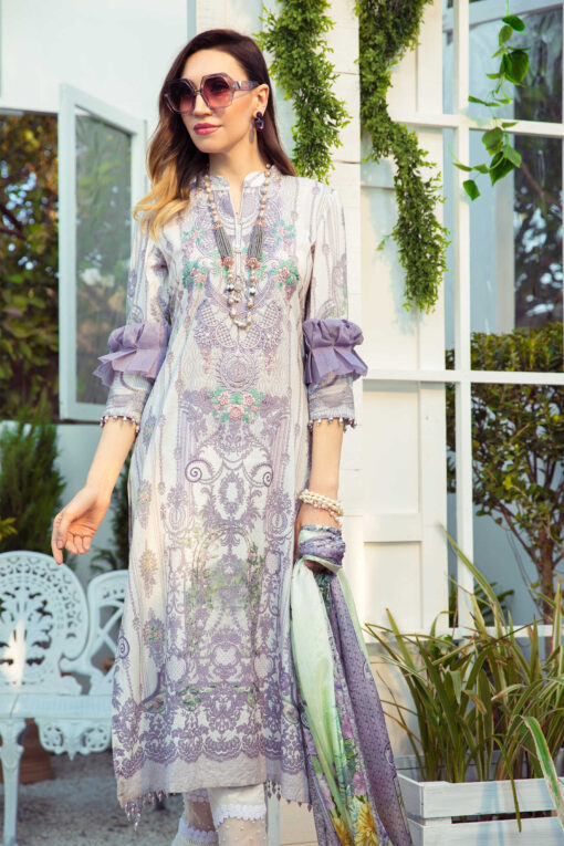 Mprints by Maria B Printed Lawn Unstitched 3 Piece Suit 05 A – Summer Collection