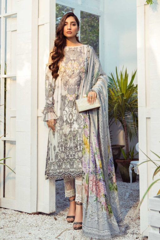Mprints by Maria B Printed Lawn Unstitched 3 Piece Suit 05 B – Summer Collection