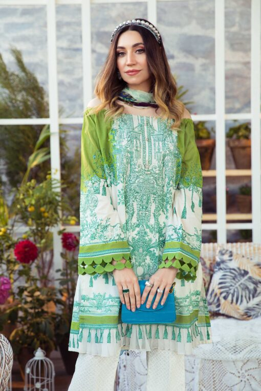 Mprints by Maria B Printed Lawn Unstitched 3 Piece Suit 07 A – Summer Collection