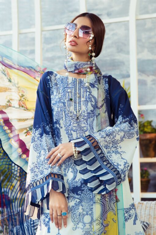 Mprints by Maria B Printed Lawn Unstitched 3 Piece Suit 07 B – Summer Collection