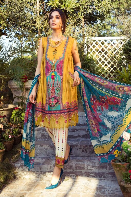 Mprints by Maria B Printed Lawn Unstitched 3 Piece Suit 08 A – Summer Collection