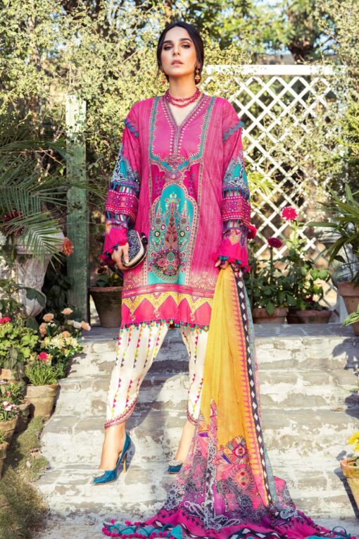 Mprints by Maria B Printed Lawn Unstitched 3 Piece Suit 08 B – Summer Collection