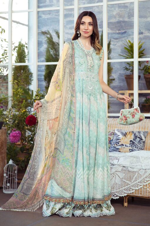Mprints by Maria B Printed Lawn Unstitched 3 Piece Suit 10 B – Summer Collection