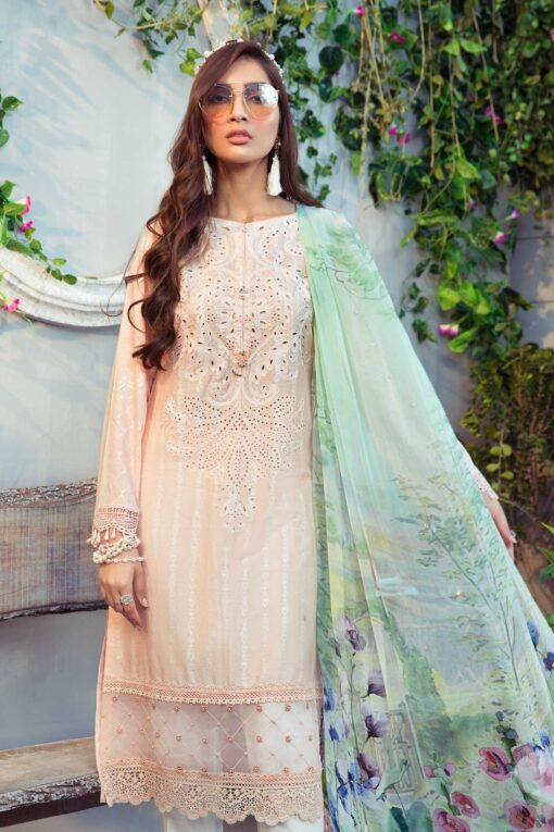 Mprints by Maria B Printed Lawn Unstitched 3 Piece Suit 11 B – Summer Collection