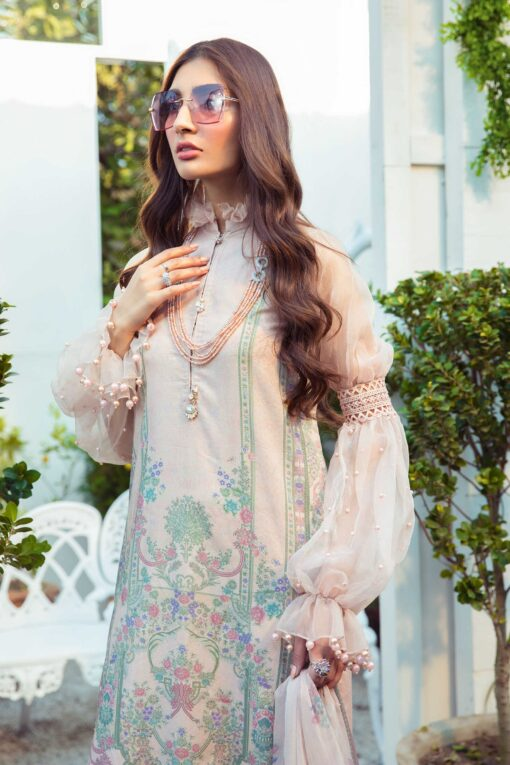 Mprints by Maria B Printed Lawn Unstitched 3 Piece Suit 12 A – Summer Collection