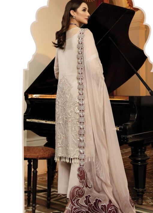 Regence by Imrozia Embroidered Chiffon Unstitched 3 Piece Suit I-123 VIVANT – Wedding Collection
