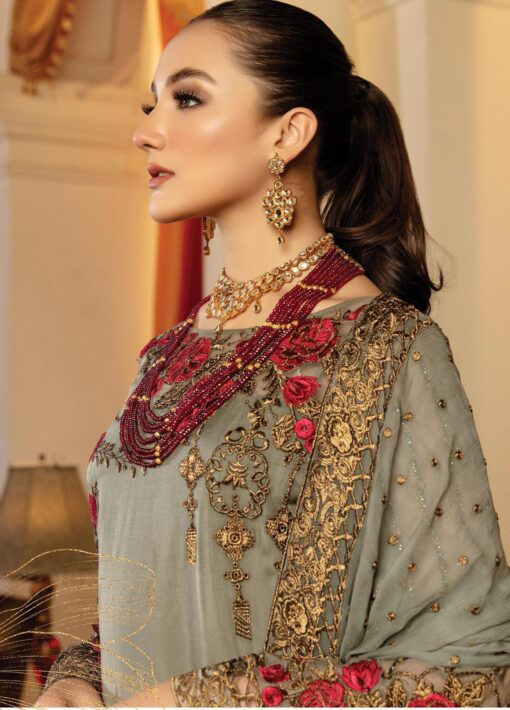 Regence by Imrozia Embroidered Chiffon Unstitched 3 Piece Suit I-126 VOEUX – Wedding Collection