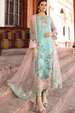 Regence by Imrozia Embroidered Net Unstitched 3 Piece Suit I-127 ESPERER – Wedding Collection