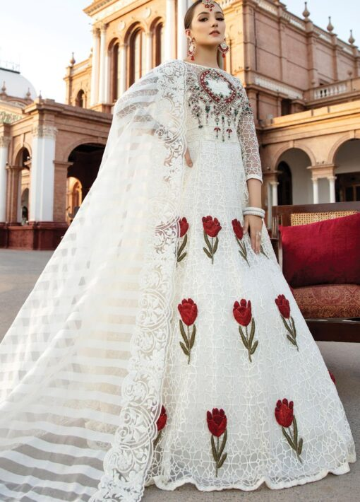 Regence by Imrozia Embroidered Net Unstitched 3 Piece Suit I-130 ROSALEE – Wedding Collection